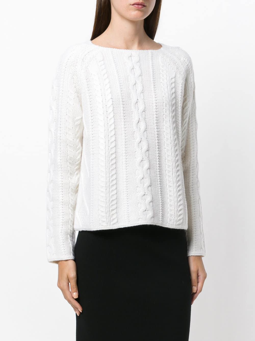 ALLUDE Sweater med fletninger