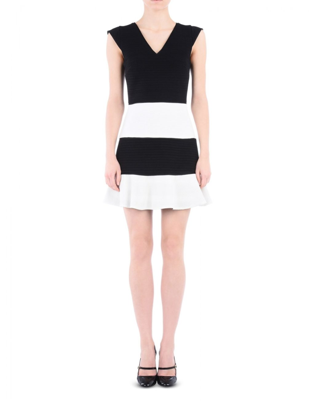 Boutique Moschino Sort & Hvid Kjole