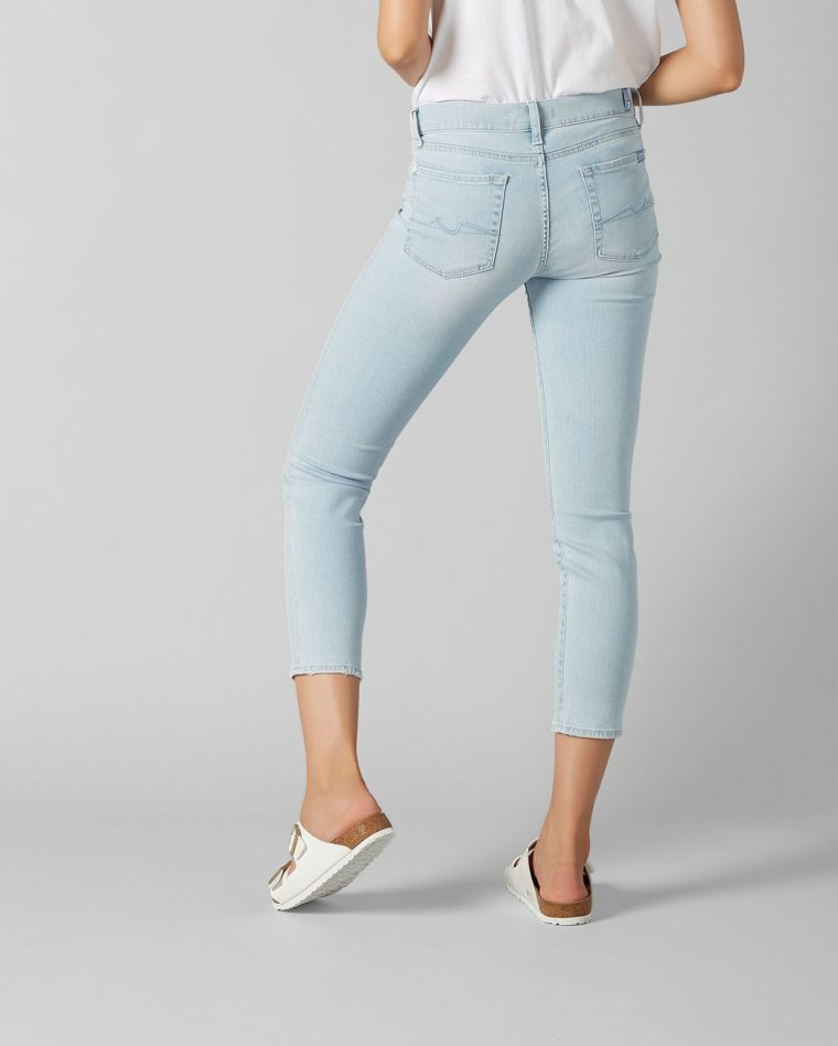 7 For All Mankind Mid Rise Roxanne Light Blue