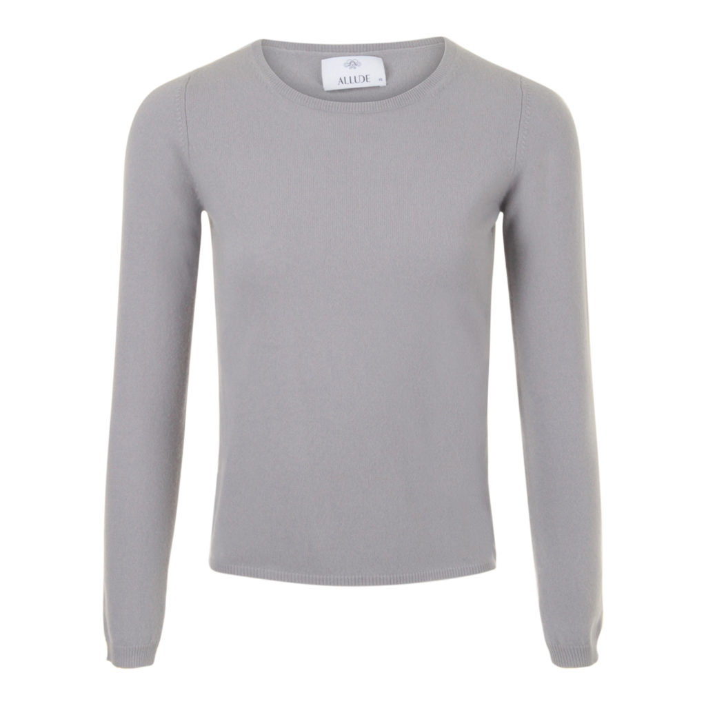 ALLUDE Cashmere Grå/Blå Sweater