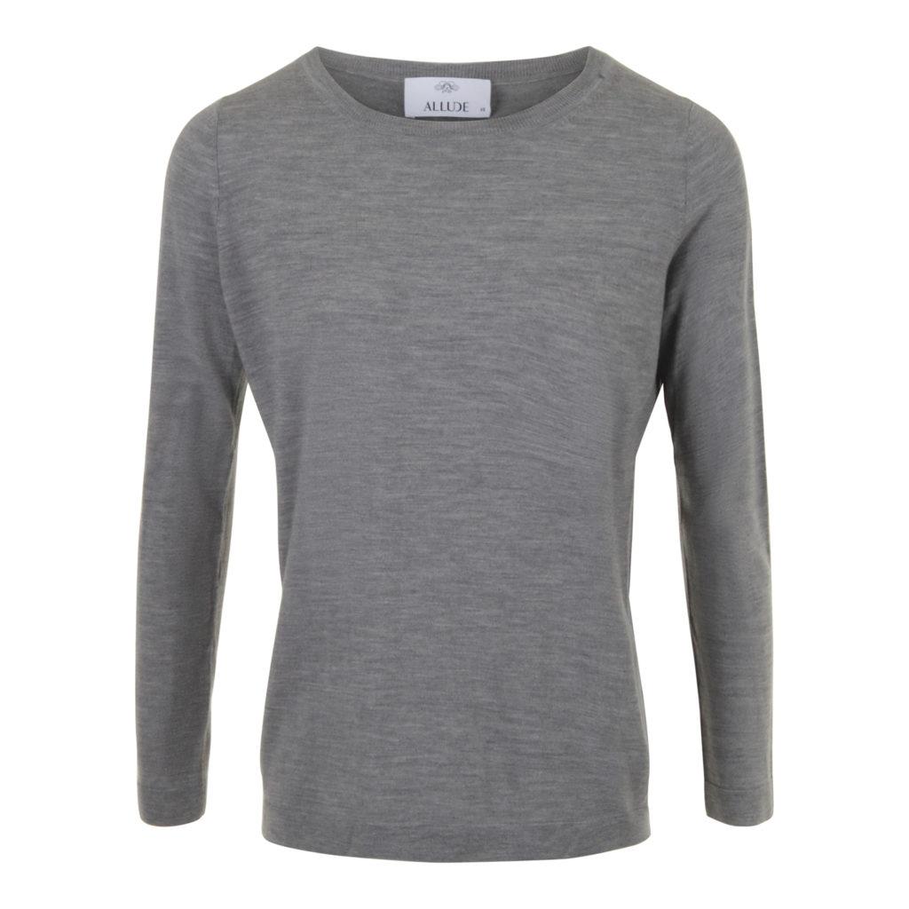 ALLUDE Grå Virgin wool Sweater