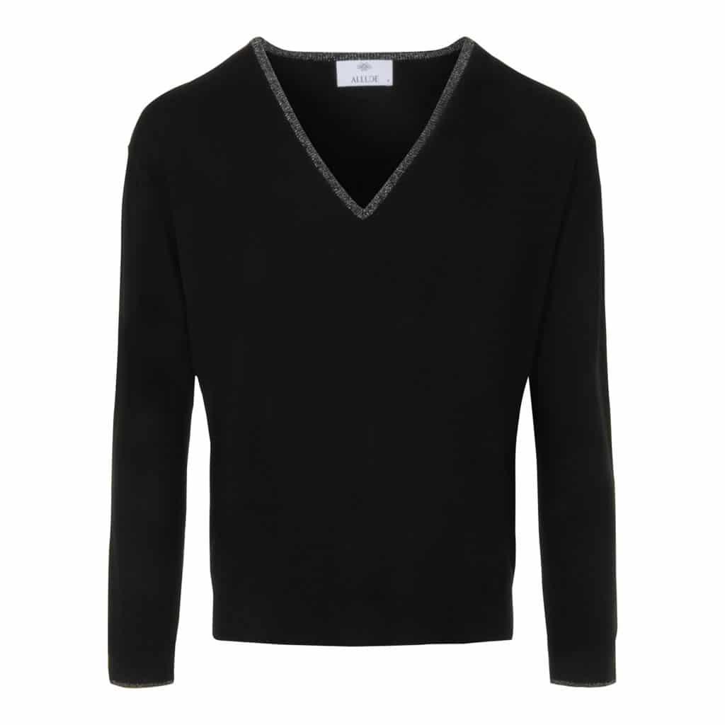 ALLUDE V-Hals pullover