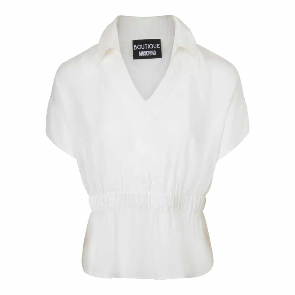 Boutique Moschino Hvid Bluse