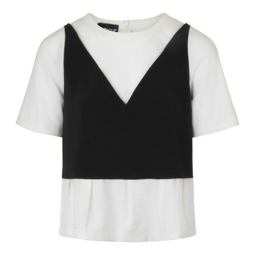 Boutique Moschino Sort og Hvid Bluse