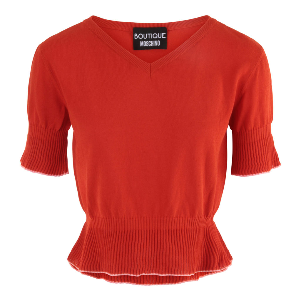 Boutique Moschino Orange Top
