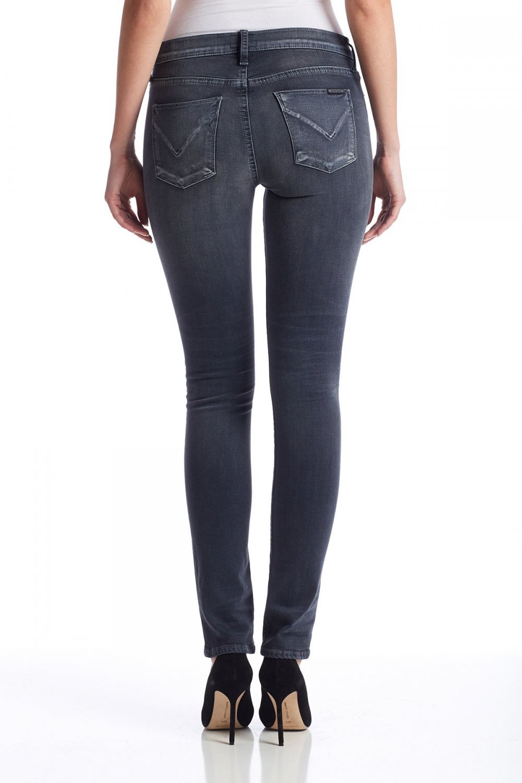 Hudson Grå Shine Midrise Skinny Jeans