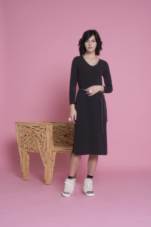 Elise gug Fiordaliso kjole med bælte