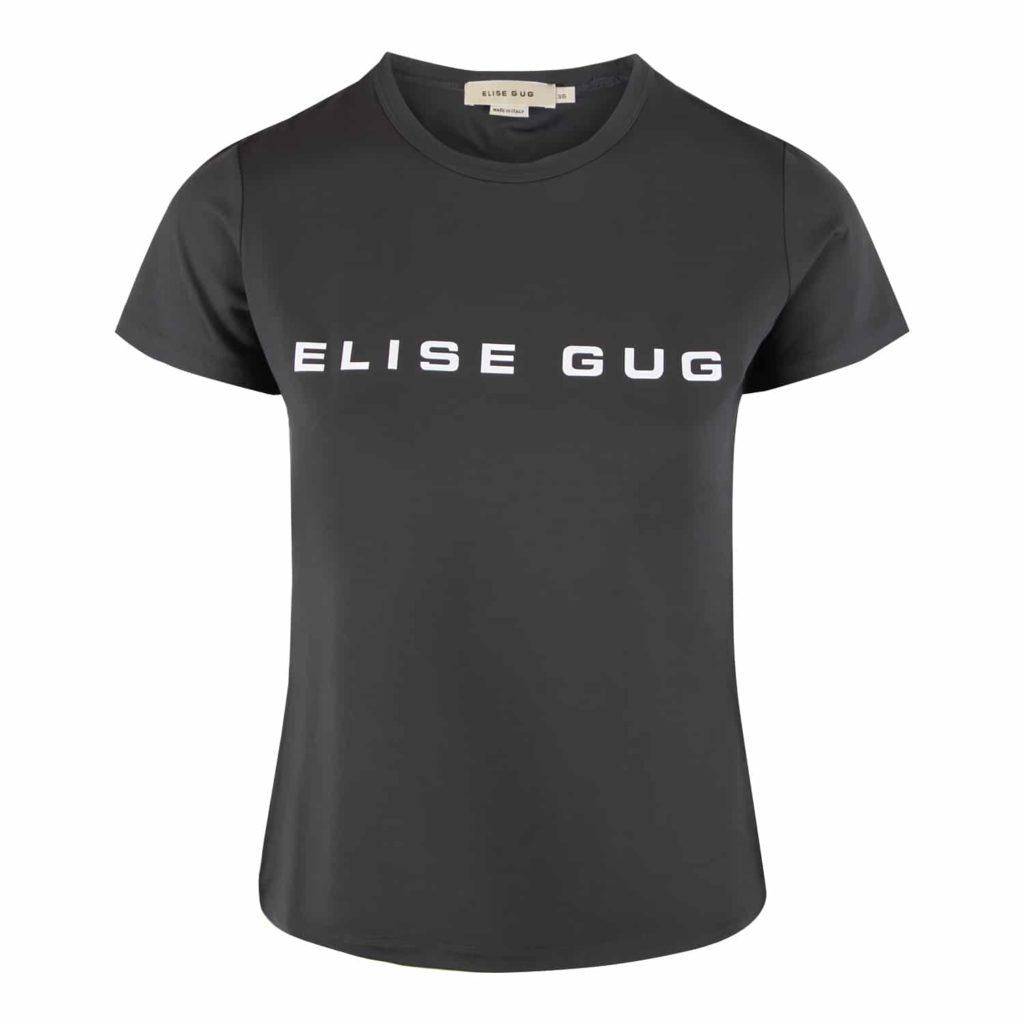 Elise Gug Grå Nilo T-shirt Med Logo