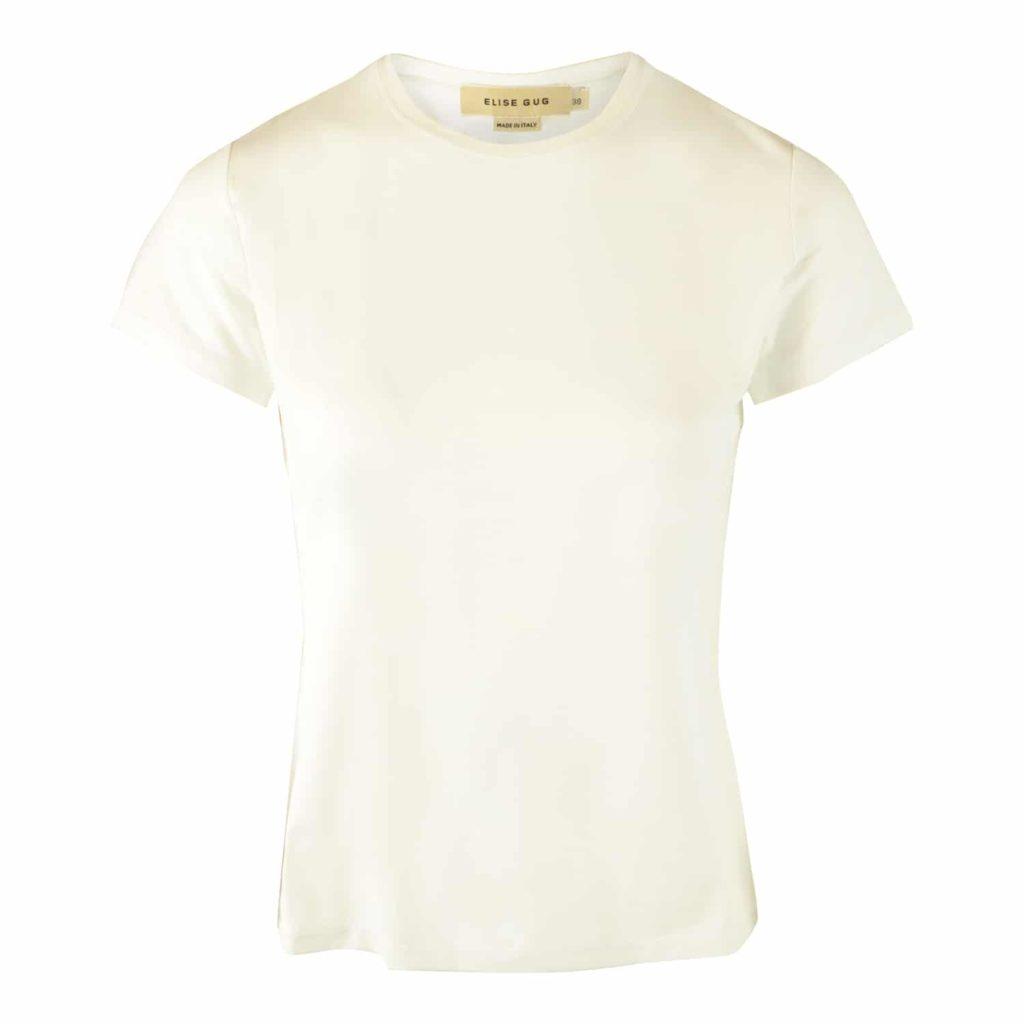 Elise Gug Hvid Nilo T-shirt Med Logo