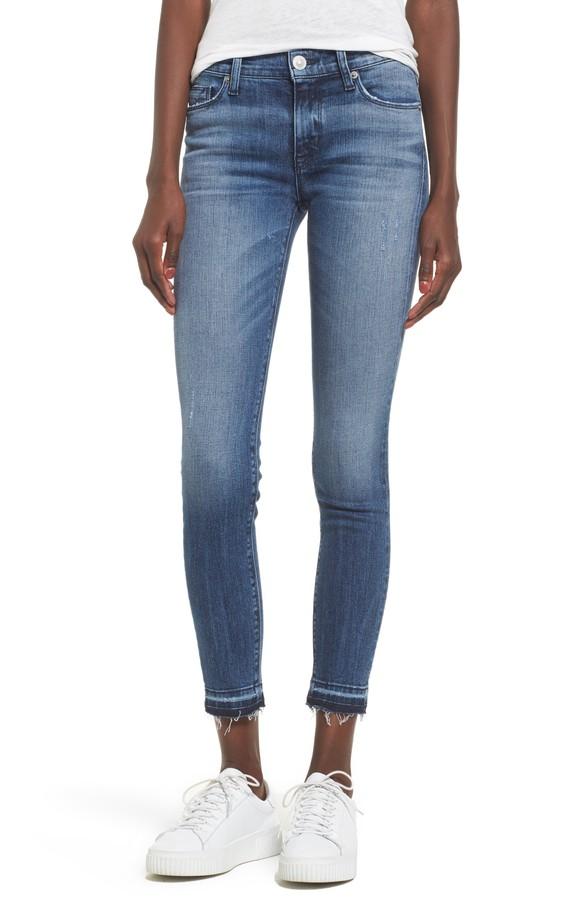 Hudson Nico Ankle Super Skinny Released Hem Jeans