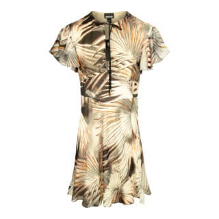 Just Cavalli Summer Palm Print Kjole