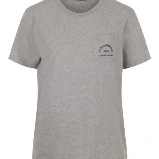 Karl Lagerfeld Grå Logo Pocket T-shirt