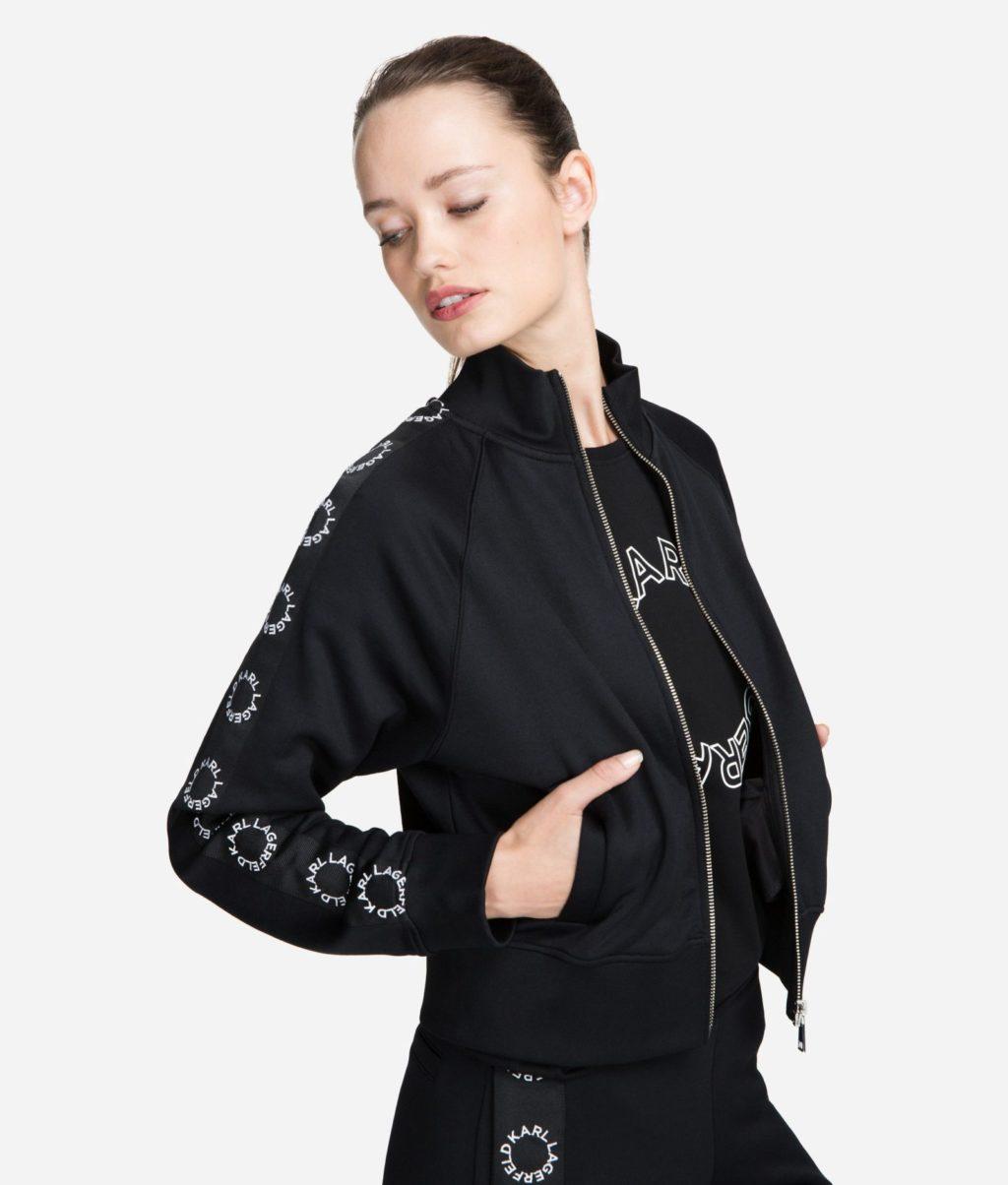 Karl Lagerfeld Sort Sweatshirt Med Lynlås