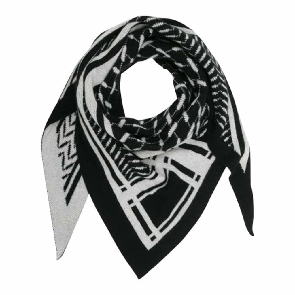 Lala Berlin Triangle Goober Tørklæde Nero/Alabastro
