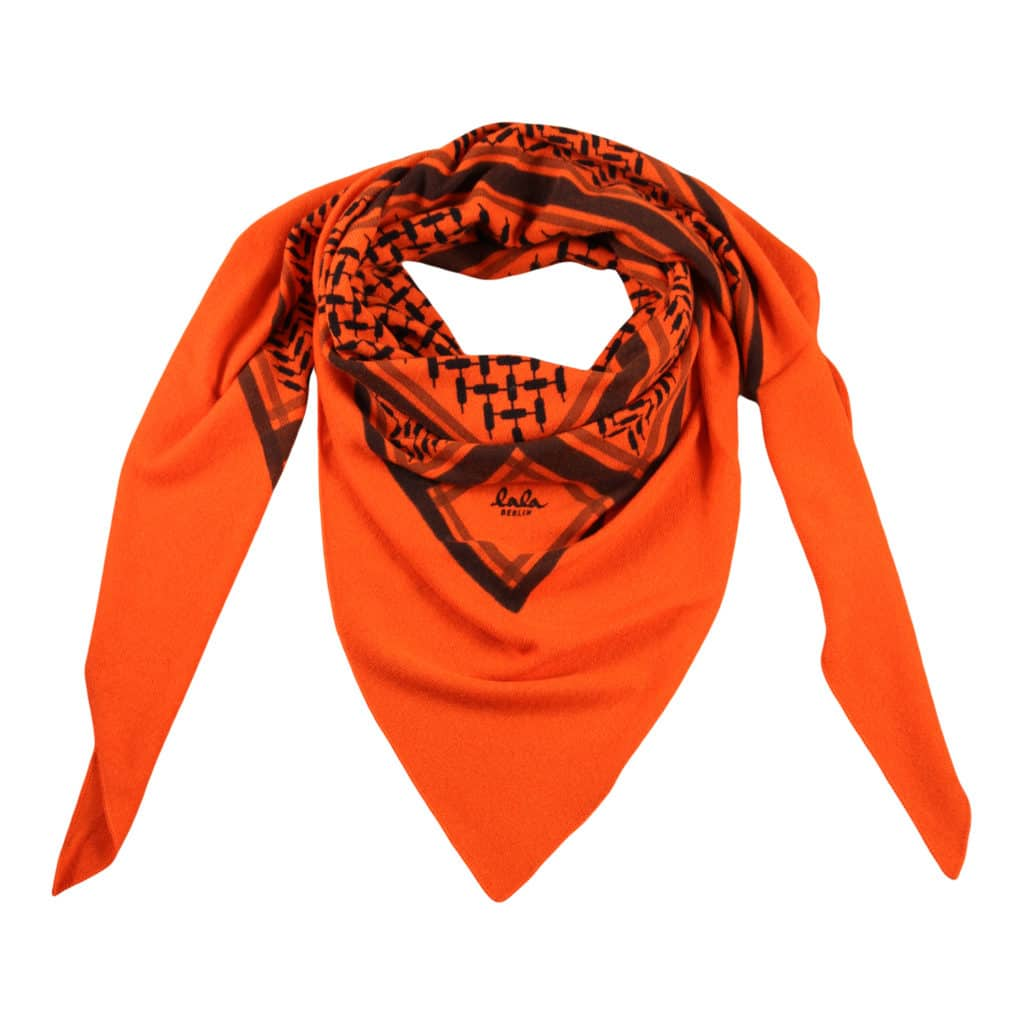 Lala Berlin Triangle Trinity Classic Tørklæde  Big Mandarino