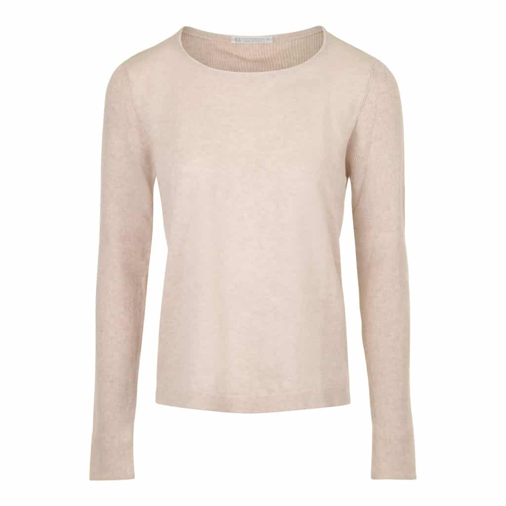 NATYOURAL Beige Bluse