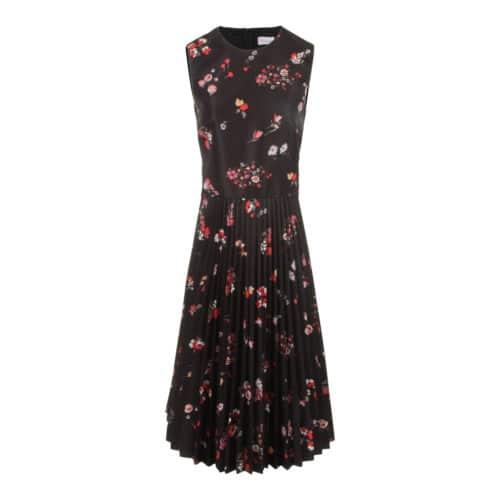 RED Valentino Black Flower Kjole