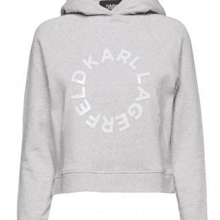 Karl Lagerfeld Cropped Hættetrøje