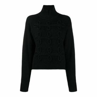 Karl Lagerfeld Sort Detalje Sweater