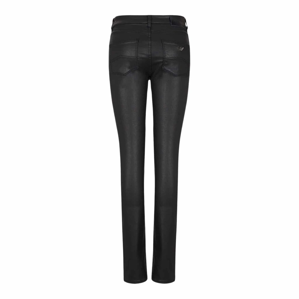 Emporio Armani Sort Coated Jeans
