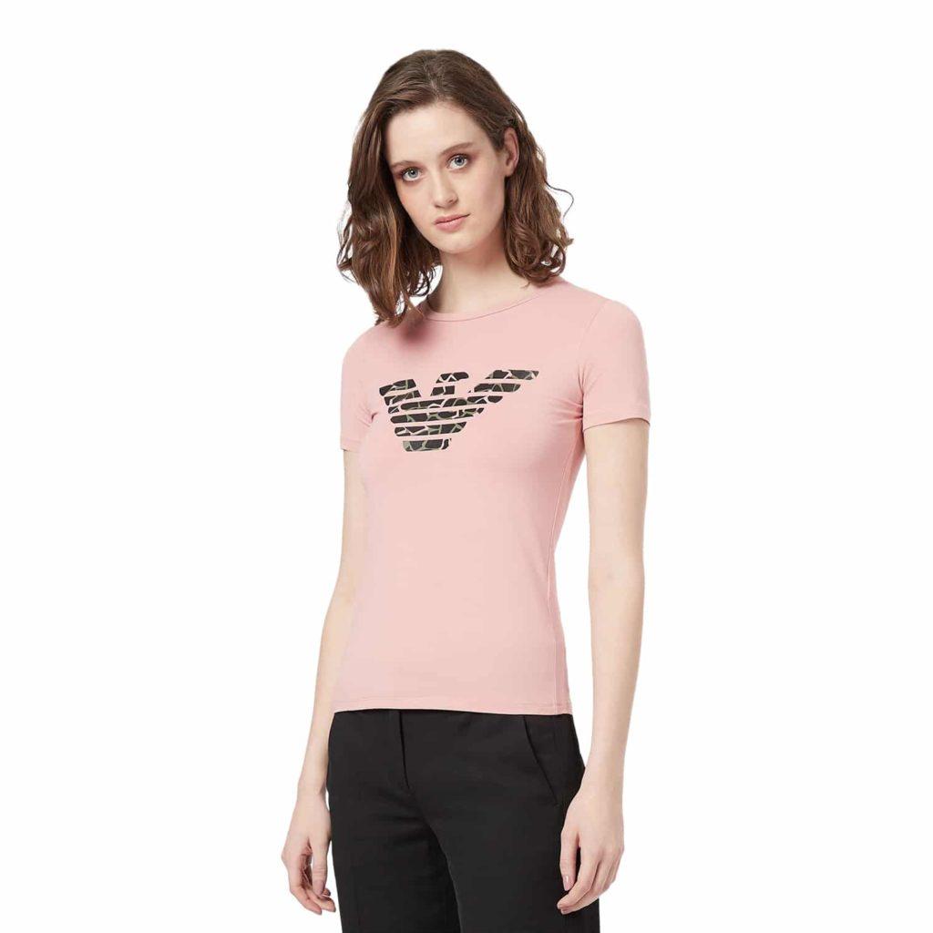 Emporio Armani Fersken Jersey T-shirt Med Logo