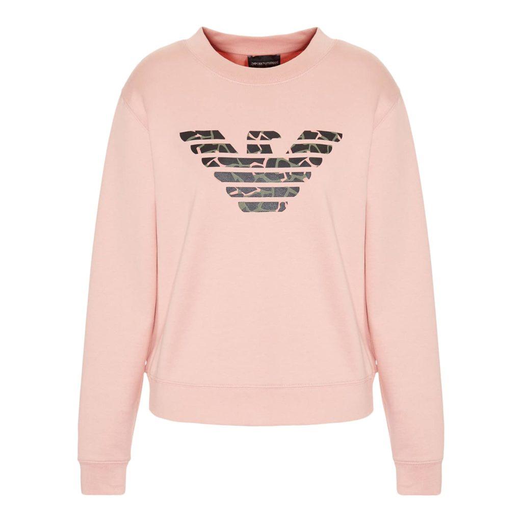 Emporio Armani Fersken Sweatshirt Med Logo