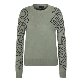 Emporio Armani Grøn Strikket Sweater Med Logo