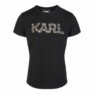 Karl Lagerfeld Sort T-shirt Med Logo