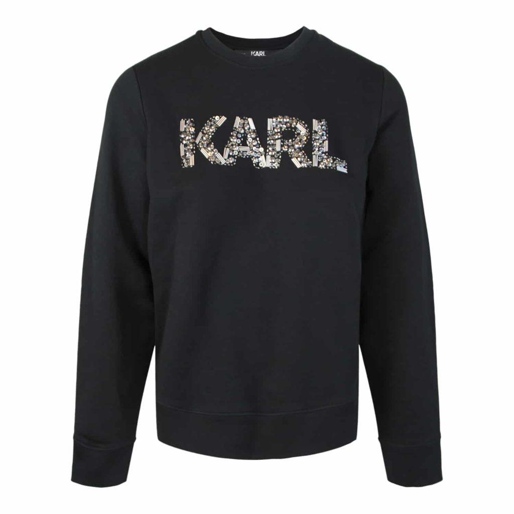 Karl Lagerfeld Sort Sweatshirt Med Logo