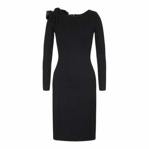 Emporio Armani Jersey Kjole Med Sløjfe