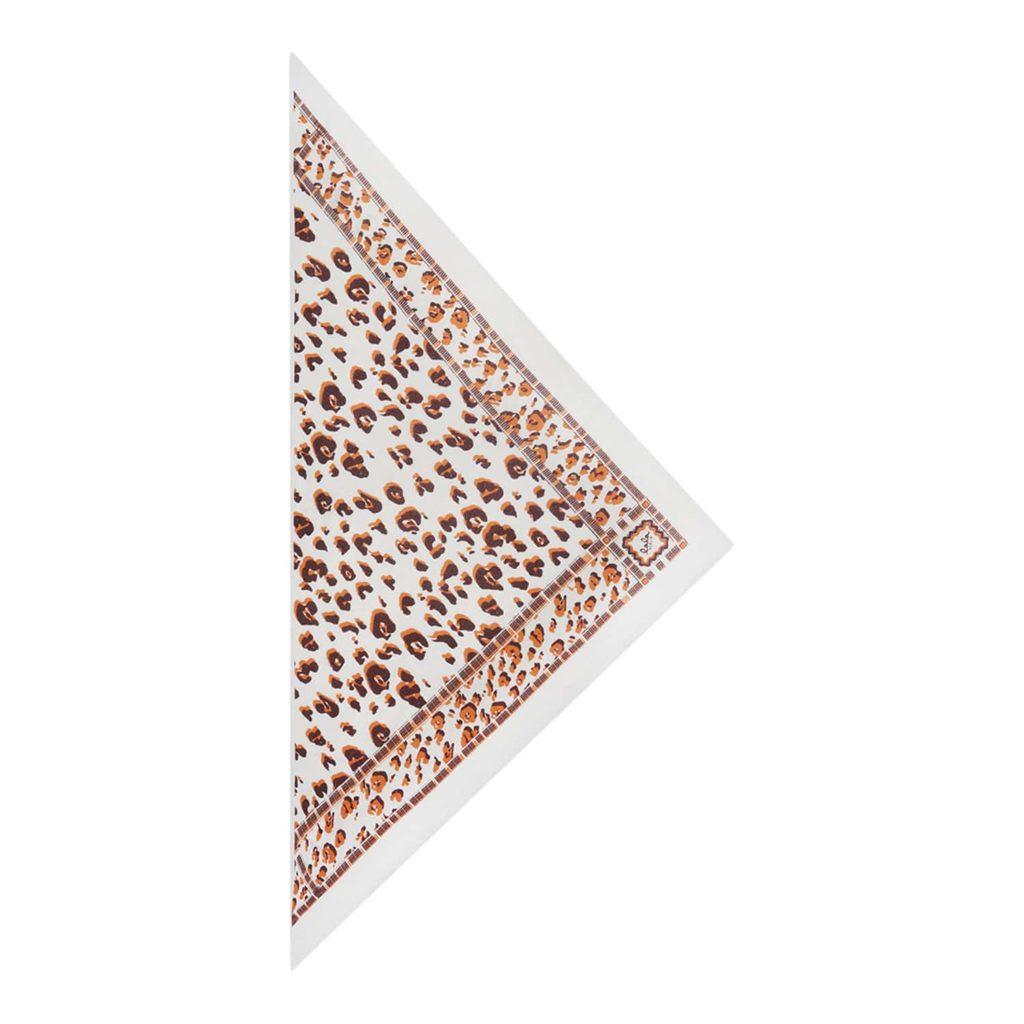 Lala Berlin Triangle Leo M Tørklæde, Orange Peel On Alabastro