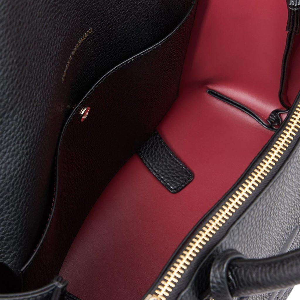 Emporio Armani Sort Håndtaske Med Logo