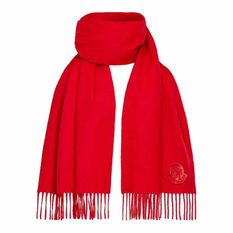 Moncler Rødt Tørklæde