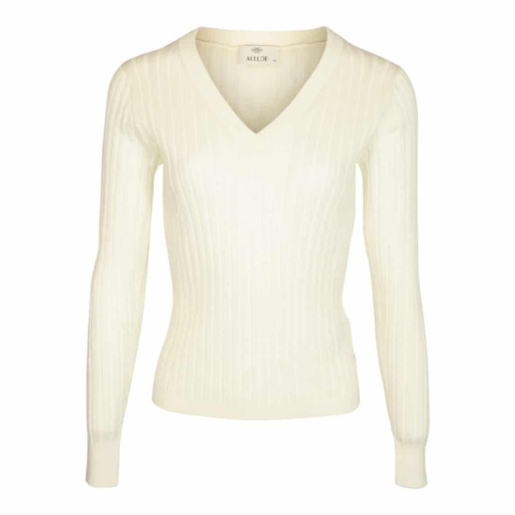 Allude V-halset Bluse Hvid
