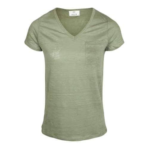 Allude V-neck T-shirt grøn