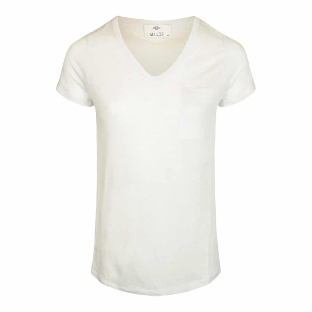 Allude V-neck T-shirt Hvid