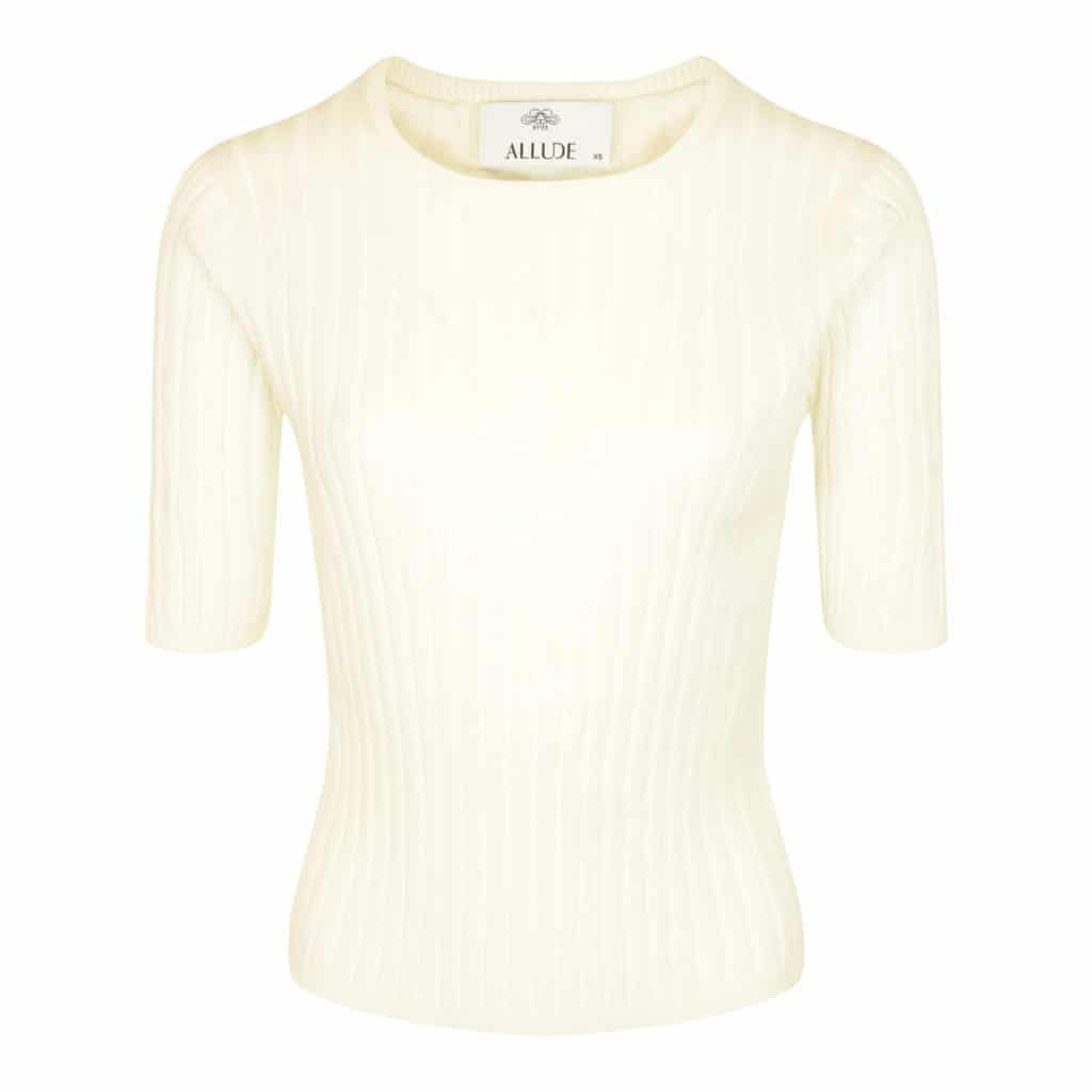 Allude hvid bluse med rip