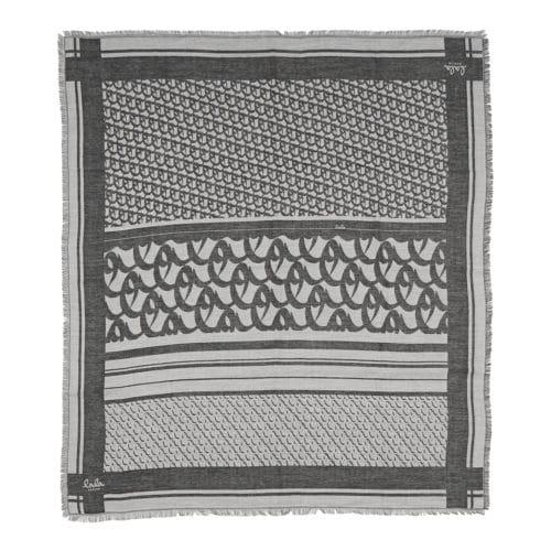 Lala Berlin Cube Monogram Tørklæde Off-White
