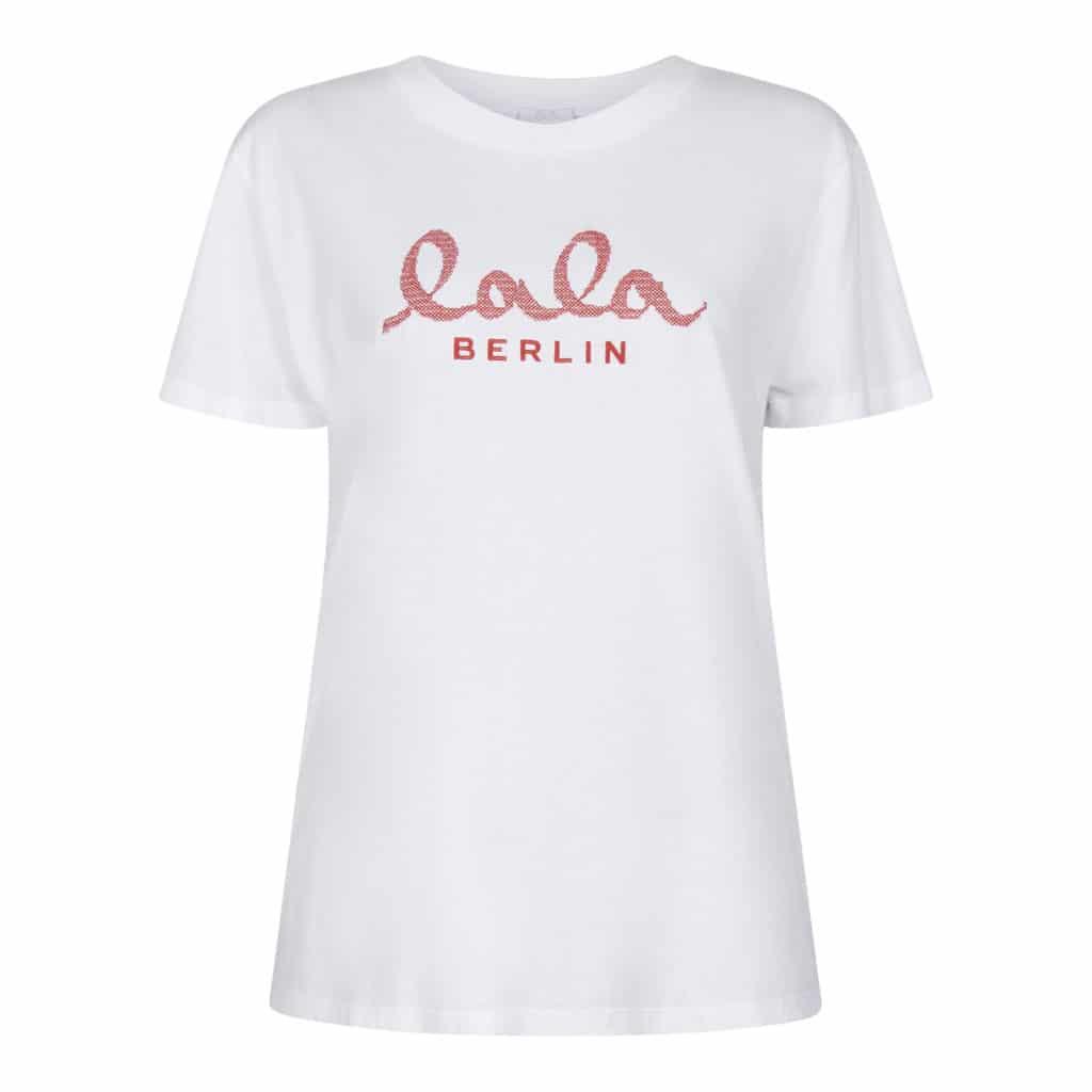 Lala berlin T-shirt Cara Lala Logo Hvid