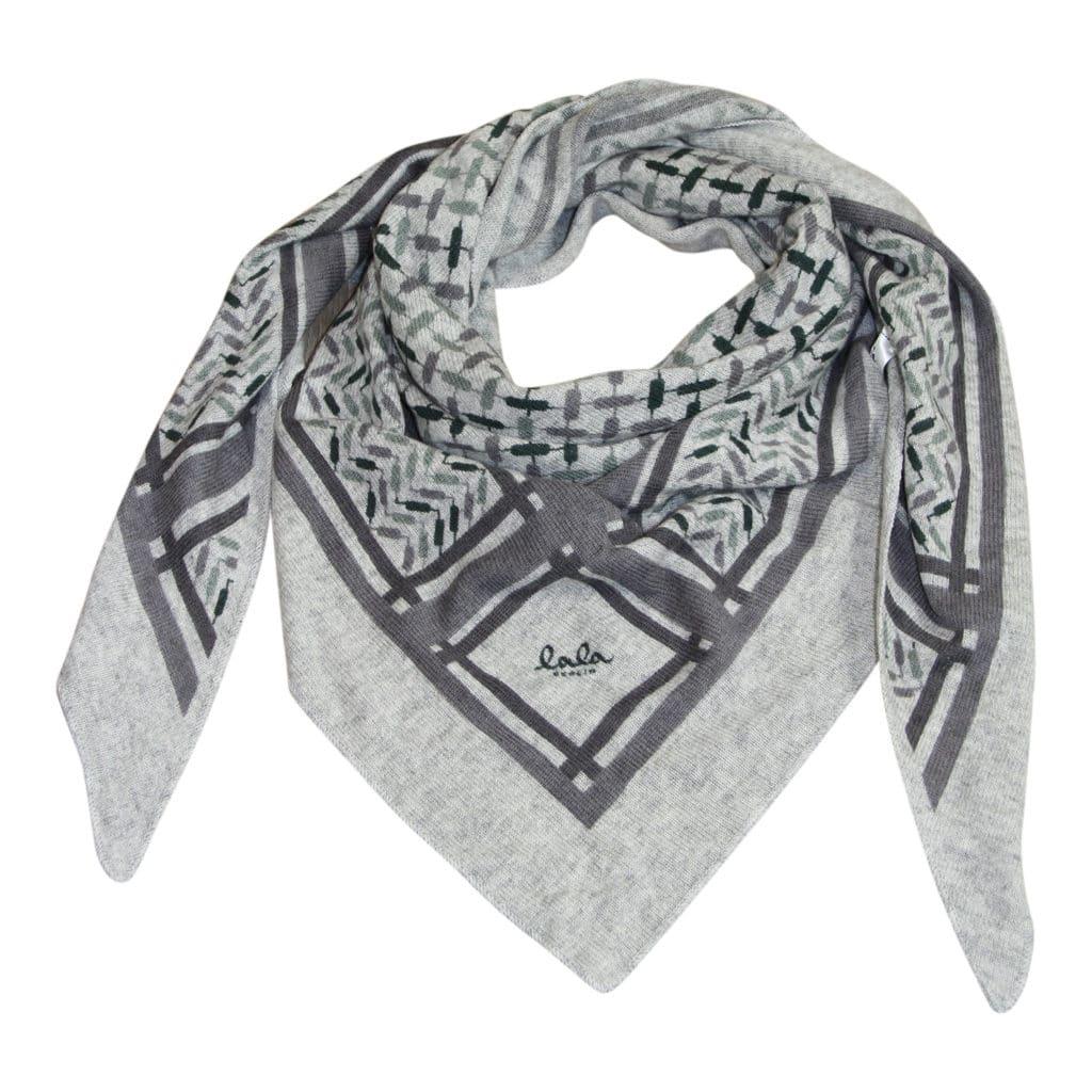 Lala Berlin Triangle Trinity Confetti Frost on Flanella Tørklæde