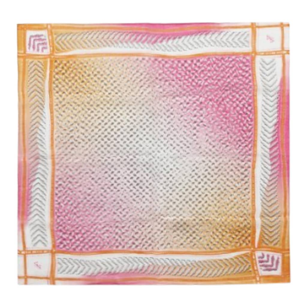 Lala Berlin Cube Lattice Tørklæde kufiya Pink Orange