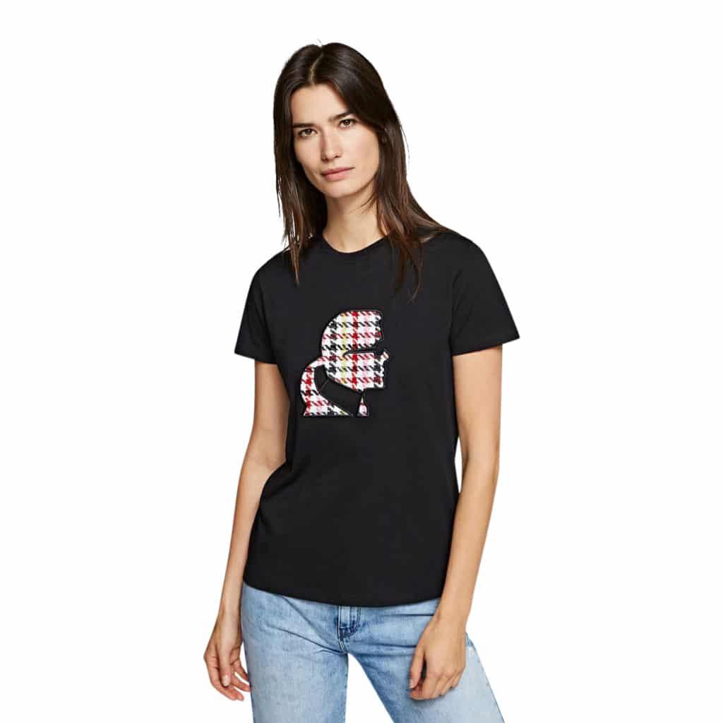 Karl Lagerfeld T-shirt Med Broderi