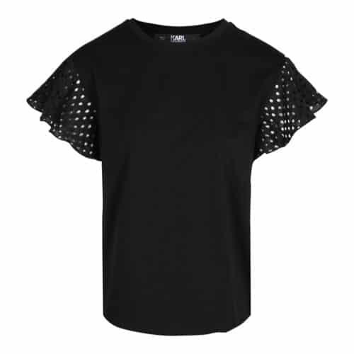 Karl Lagerfeld T-shirt Med Flæse Sort