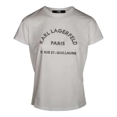 Karl Lagerfeld T-shirt Med Rhinsten
