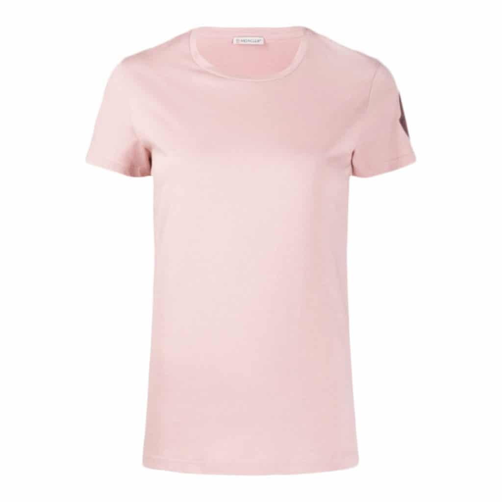 Moncler T-shirt Girocollo Pink