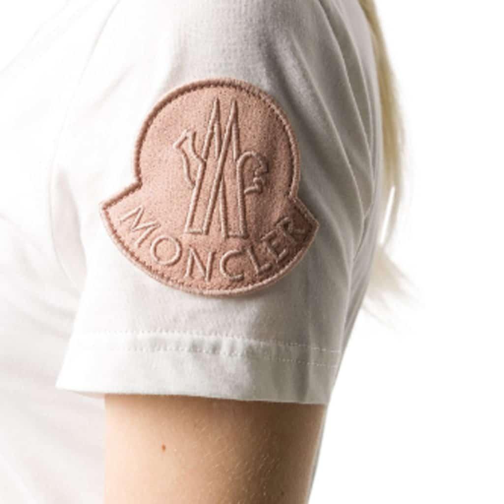 Moncler T-shirt Girocollo Hvid
