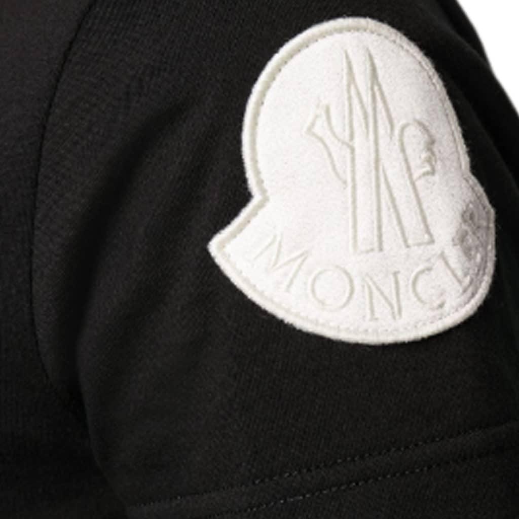 Moncler T-shirt Girocollo Sort