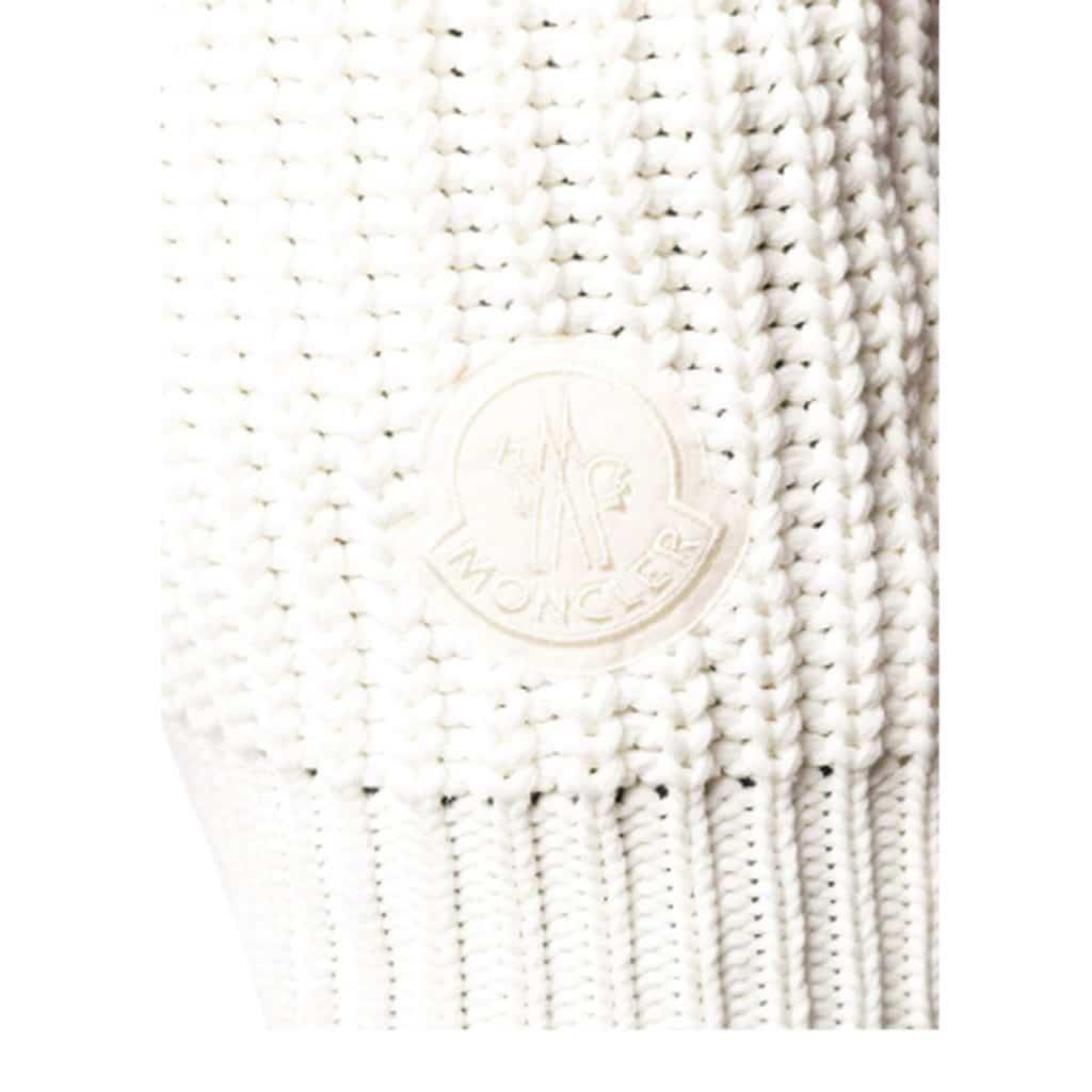 Moncler Gilet Tricot Hvid