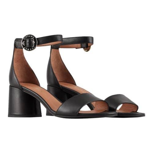 Emporio Armani Sort Læder Sandal