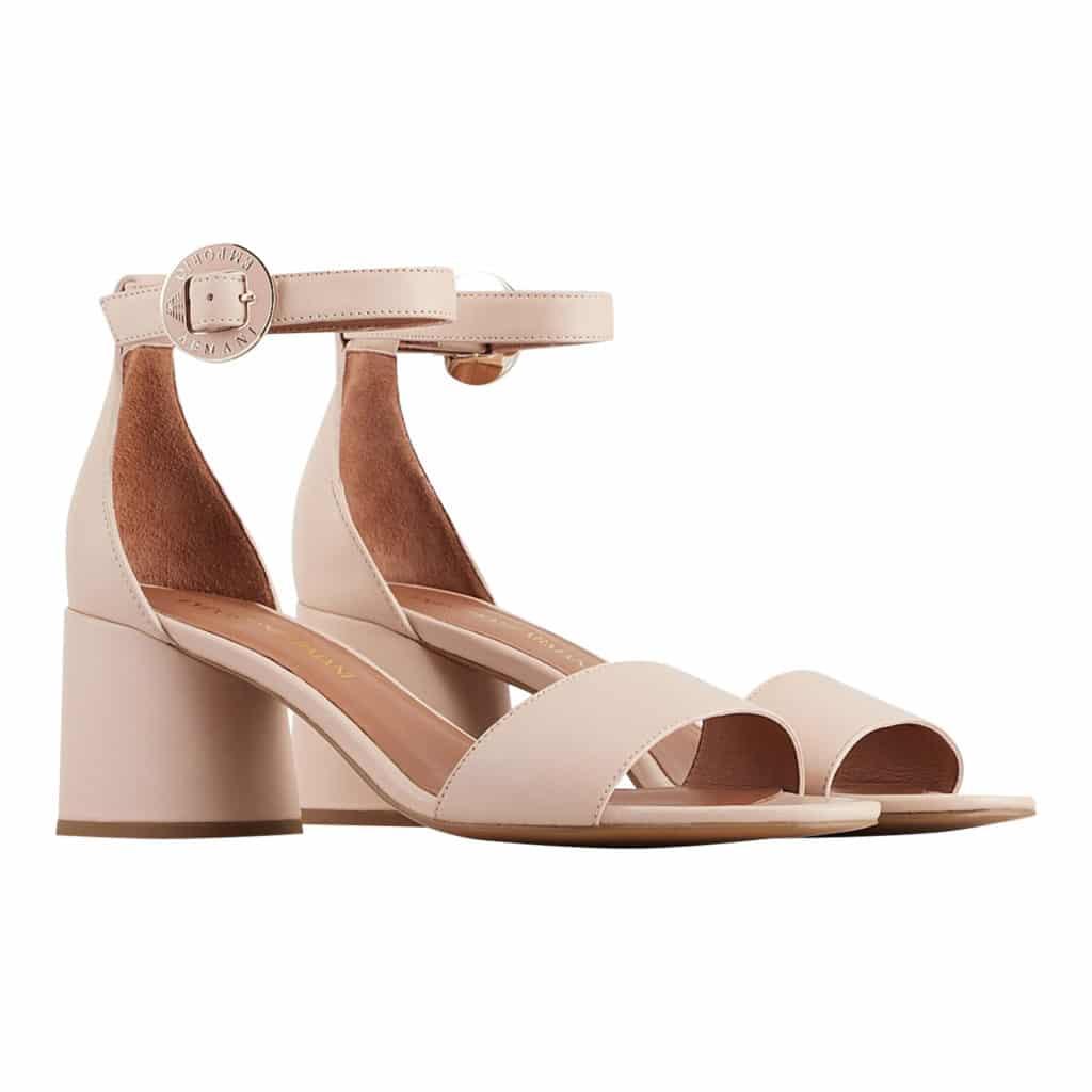 Emporio Armani Nude Læder Sandal